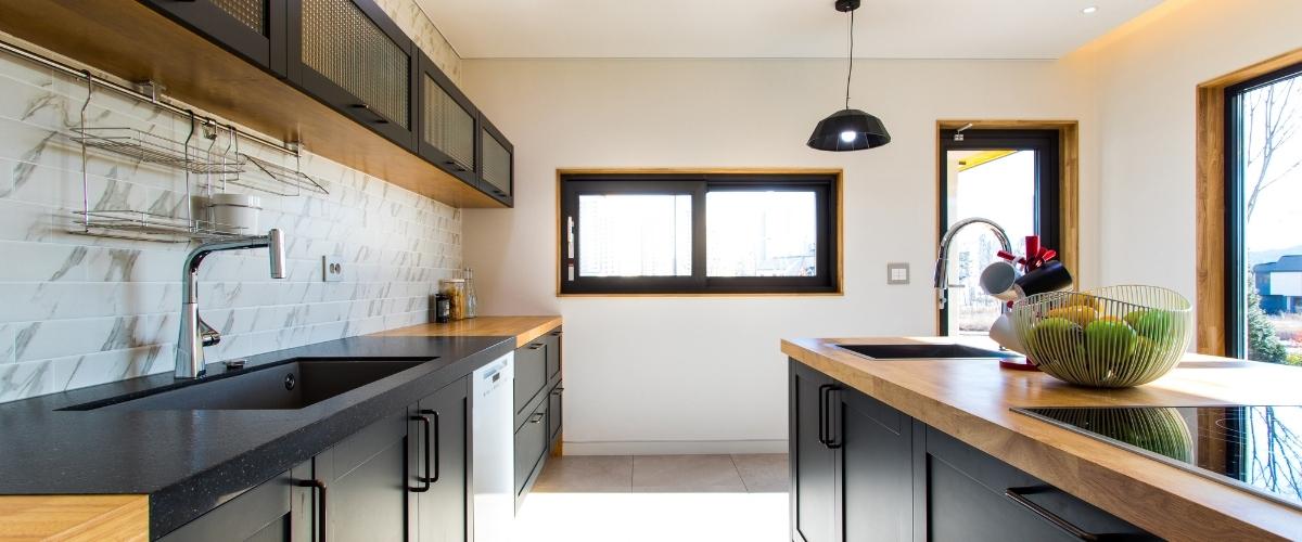 cucina su misura moderna in legno